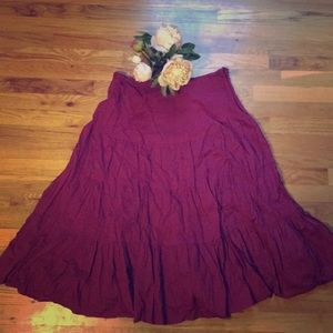 Westbound Skirts - Pretty Wine Colored Maxi Skirt